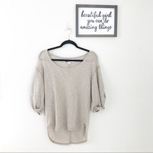 Free People • Beige Oversized Cozy Sweater